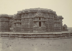 Hoysalesvara Temple, Halebid, (rear view)